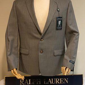 NWT Ralph Lauren Men's Light Grey Suit Jacket 42S